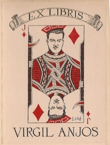 Bookplate of Virgil Anjos