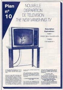 Vanishing TV Illusion Plan showing fish theme - FECHNER, Christian. Soirées Fantastiques
